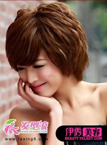 短发纹理烫发型图片