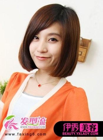 斜刘海短发发型