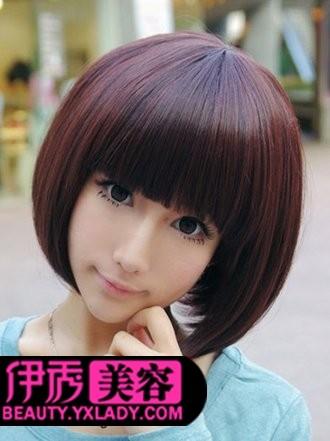 学生头短发发型图片图片
