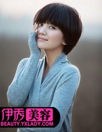 蘑菇头短发发型设计-短发发型图片 最新女生短发发型设计