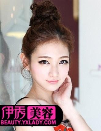 女生欧式复古发型图片