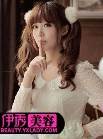 韩式发型扎法 时尚中长发发型扎法图片