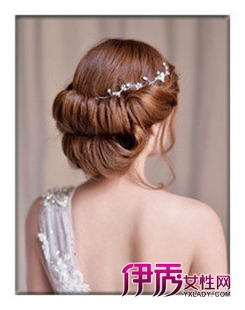 2012新款新娘韩式盘发发型【图】(5)_流行发型_美容