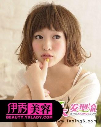 齐刘海短发发型图片-靓丽短发发型 时尚易打理的发型设计图片