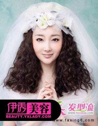 蛋卷头新娘发型