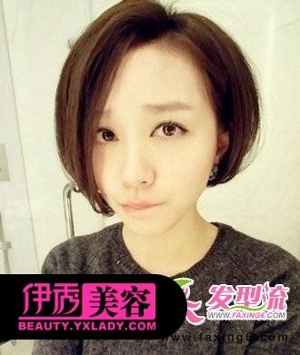 发型 短发 刘海 女生/斜刘海女生短发发型...