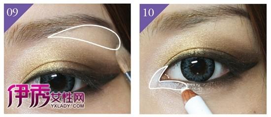 韩式魅惑猫眼妆的画法教程