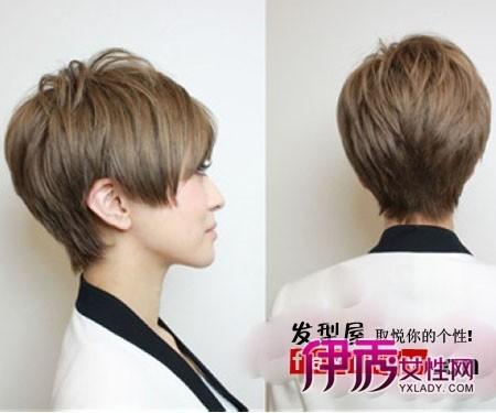 瘦脸女士短发发型图片展示