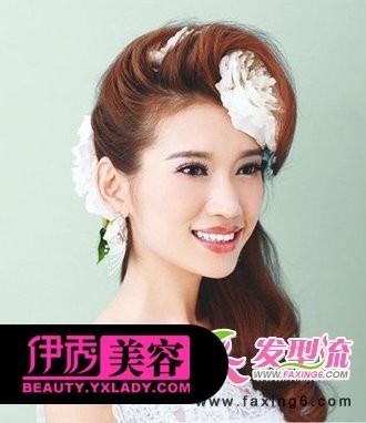 创意新娘发型图片