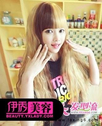 谢娜短发发型图_金咖色染发