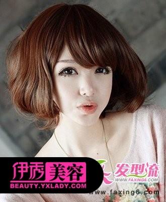 可爱韩式短卷发 打造萌系女生卷发发型