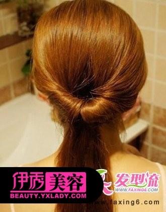 韩式盘发教程图解 打造甜美淑女气质发型