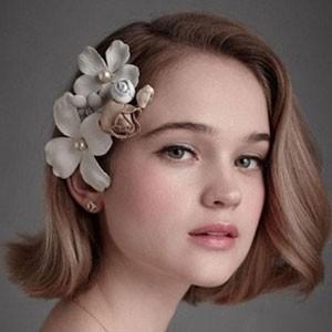 短发新娘发型图片