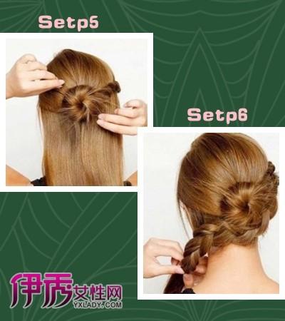 美丽绽放 用发插拧造花朵盘发【图解】(3)_diy发型
