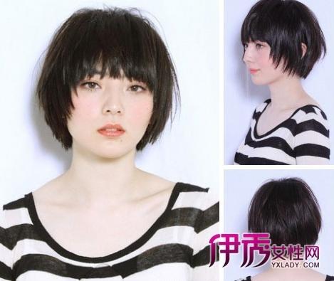 直发很贴服自然,配合碎发修剪显得有更好层次设计.图片