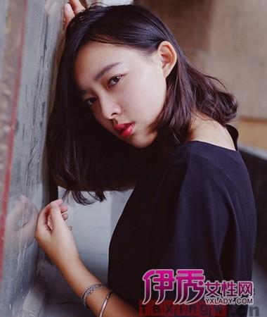 方脸MM韩式齐肩短发发型图片
