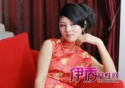 冬季新娘旗袍发型图片图片