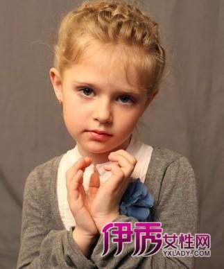 欧美style小女孩发型图靠可爱卷发
