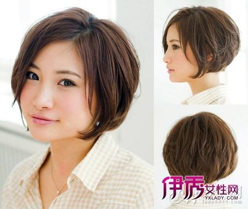 圆脸mm专属短发卷发发型图片图片