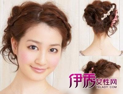 短发如何扎头发好看刘海编发与别不同