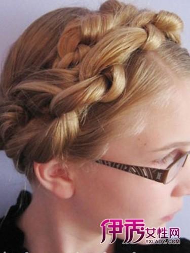 各种创意时尚长发编发发型图片