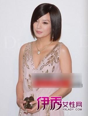 大眼美女明星赵薇短发发型图片图片