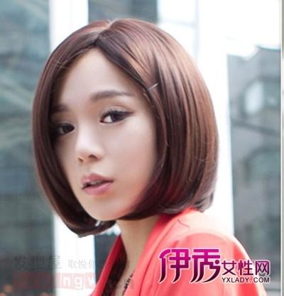 适合矮个子女生的短发发型发型轻松增高(6)_流中时尚图片刘海超短长发图片