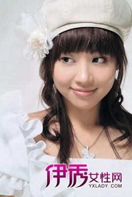 个性化的齐刘海新娘发型-甜美齐刘海新娘造型 做最美新娘图片