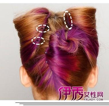 猫耳公主头发型设计步骤图片