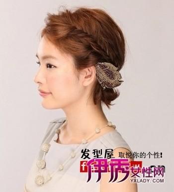 短发女生diy发型 短发盘发个性