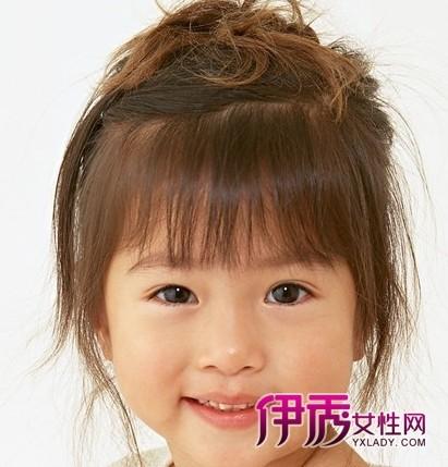 超萌的小女孩发型发型小辫(6)_流行短发_v发型编效果烫发什么图片图片