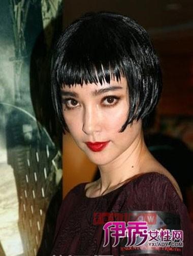 超短齐刘海短发发型 显率真个性