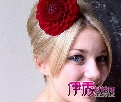 尚惊艳的欧美风新娘盘发造型图片