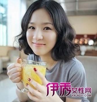 2014年大全女生短烫发时尚发型丸子(6)_流行发图片头有刘海图片