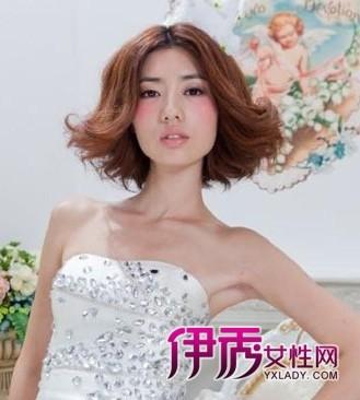2014时尚短发新娘造型让你更出众