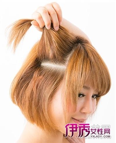 专题:短发编发短发怎么扎编发发型diy发型短发韩式编发  step6:背面