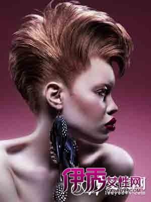 这款露额的女生另类发型