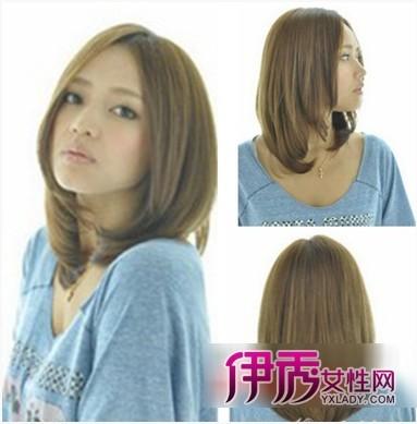 ol 卷发 气质发型 小脸   中分的圆脸发型,中分之后两侧的长直发紧贴