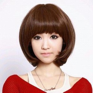 蘑菇头发型图片图片