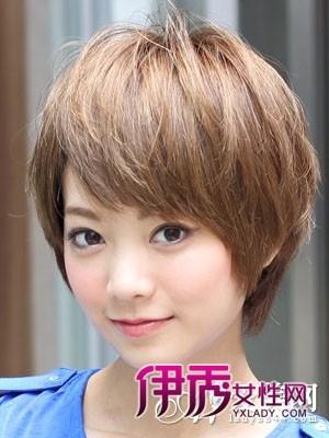 额头窄女生短发发型五图片