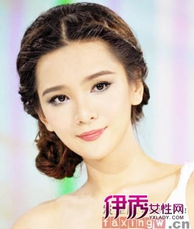 古典新娘盘发发型图片展示图片