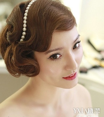 6款韩式新娘发型盘发图片