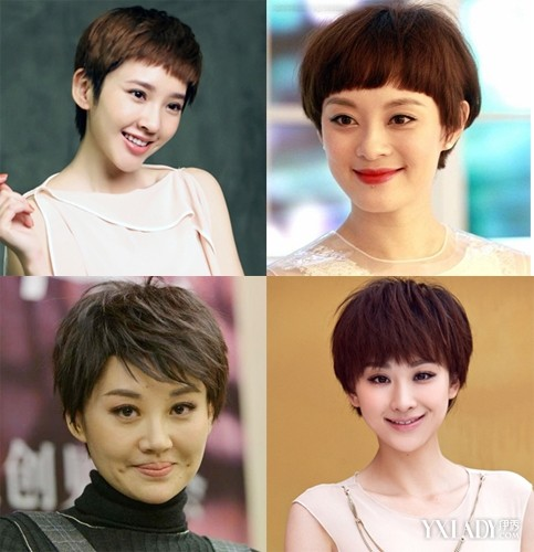 2018夏季潮流短发发型图片 女星短发时尚图片