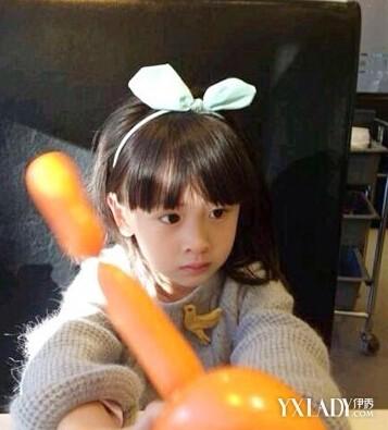 田雨 刘海/韩范的兔耳朵发带,是不是萌翻你了,齐刘海长发,温暖的毛衣,...