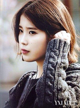 【图】iu泫雅李珉廷俏皮示范 韩式中长发烫发发型图片