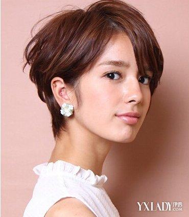 【图】图片短发发型2014女图片魅力打造精致短发图片2018韩式发型长脸图片