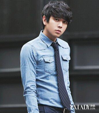 【图】国字脸男生适合什么发型?2014新款韩国男生发型图片