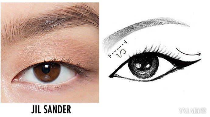 将眼形归类单眼皮双眼皮狐狸眼等,眼线就能找到的画法,让你的眼睛看
