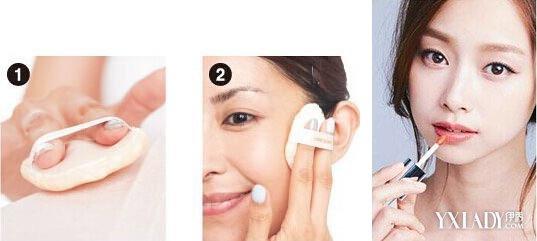 首页 彩妆 彩妆课堂    腮红步骤   选用腮红霜,先蘸取于手上,用手指