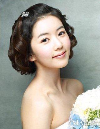 宋丹丹婚纱照风韵犹存 盘点甜美短发新娘发型图片
